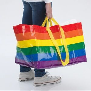 (New) IKEA STORSTOMMA Rainbow Large Shopping Bag